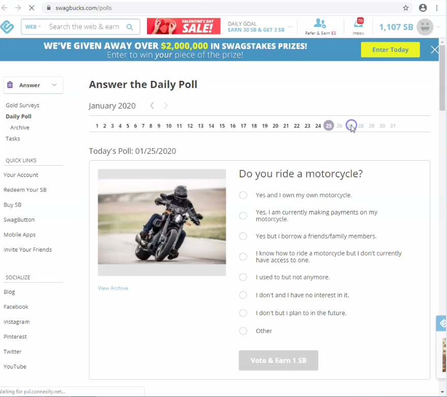 Motorcycle picture. Your Daily Poll. Free daily money and gift cards. Refer to friends make money while you sleep with passive income on Autopilot. Tutorial Review